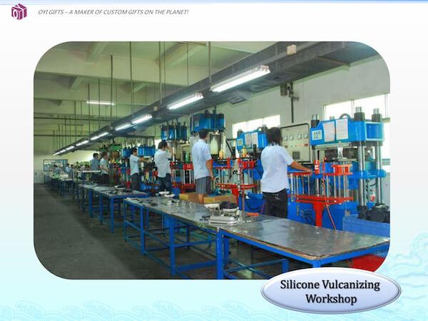 OYI Gifts company profile-silicone vulcanizing workshop
