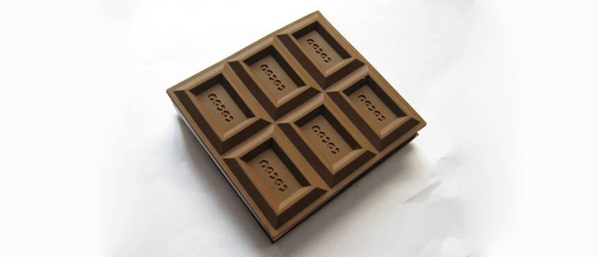 chocolate soft case notebook