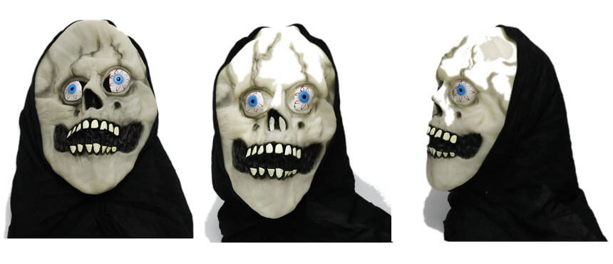custom halloween face pvc masks