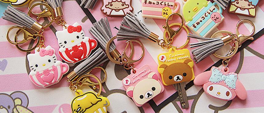 custom cute pvc key cover