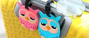Owl pvc Luggage tag