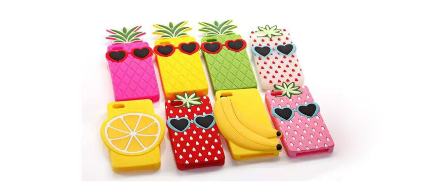 Silicone fruit design phone case