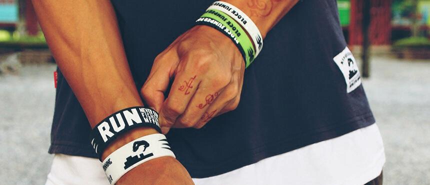 silicone sport bracelet