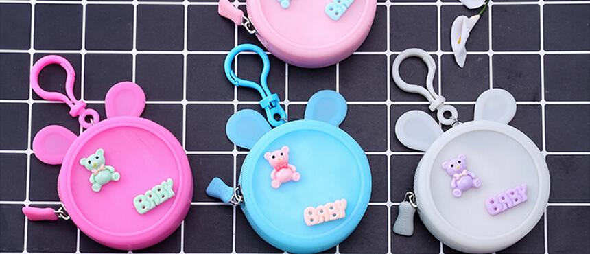 silicone mini candy bag cute purse