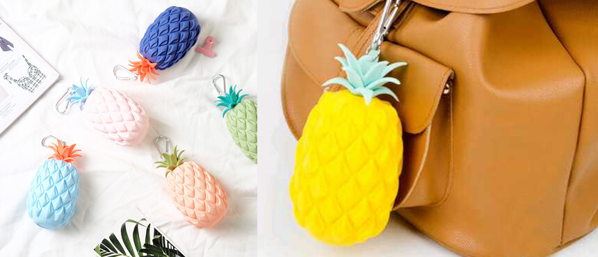 silicone fruit mini purse