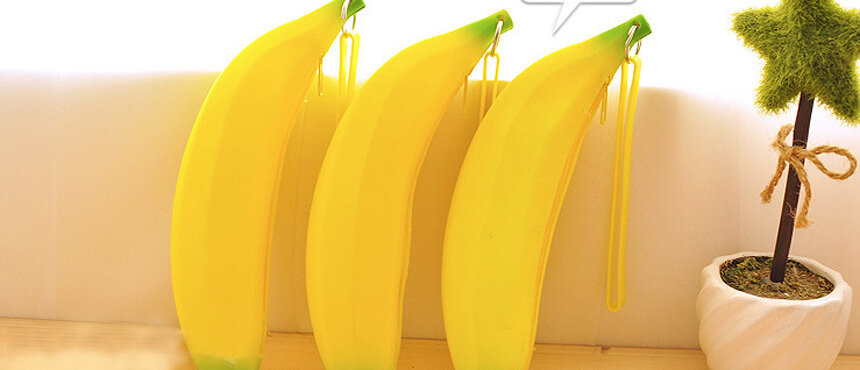 silicone banana mini purse