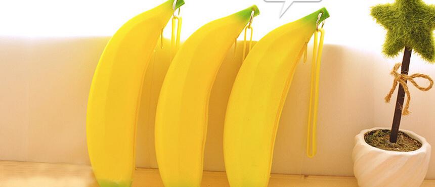 silicone banana mini purse