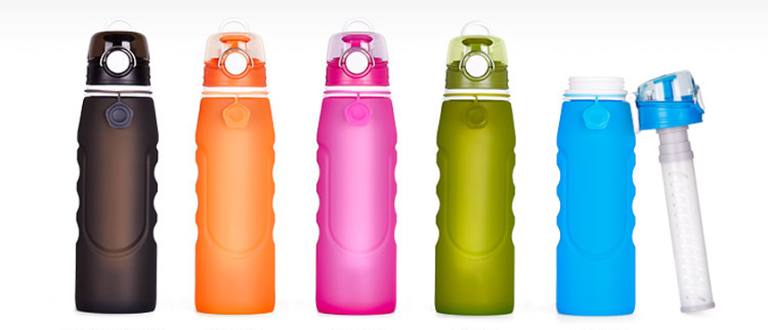 F2 plus Silicone Filtration purification folding water bottles