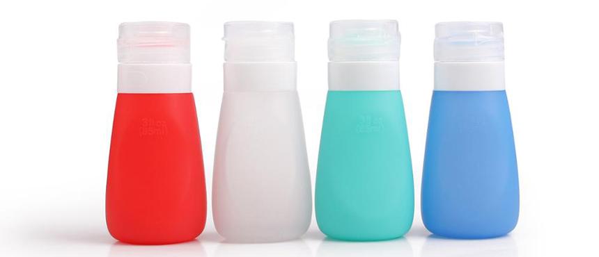 Custom design silicone travel bottles set promotion gifts
