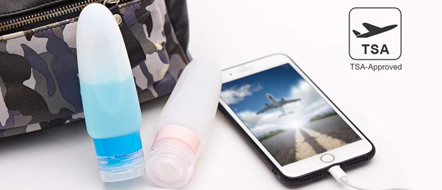 Silicone travel bottles set with suck portable for travel fun gifts tubes
