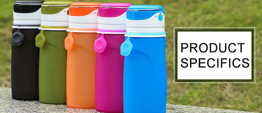 silicone callopsible FDA water bottles