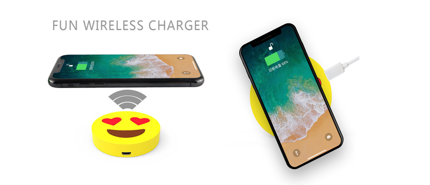 Make your emoticon design wirless charger fun gifts ideas soft skin