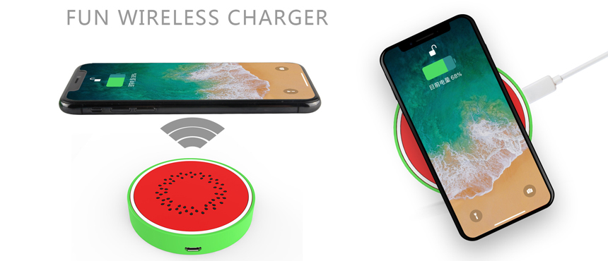 Make your own watermelon design wireless charger creative gifts soft skin