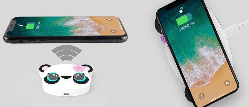 Custom cartoon panda wireless charger creative gifts soft skin