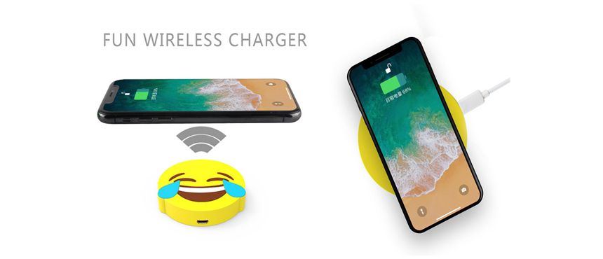 custom emoticon wireless charger fun gifts ideas soft skin