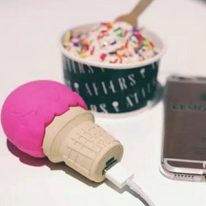 icecream design creative gifts portable power bank