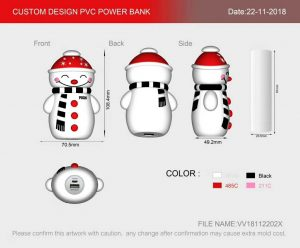 Christmas design power bank custom draw Unique electronic gifts