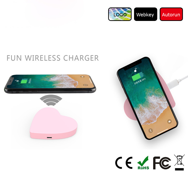 Heart design wireless charger