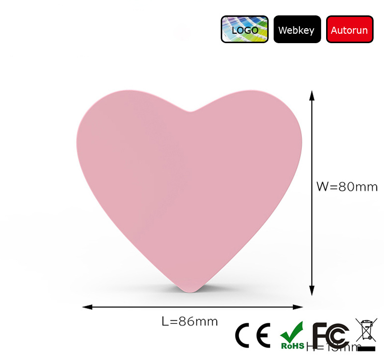 Heart design cartoon wireless charger