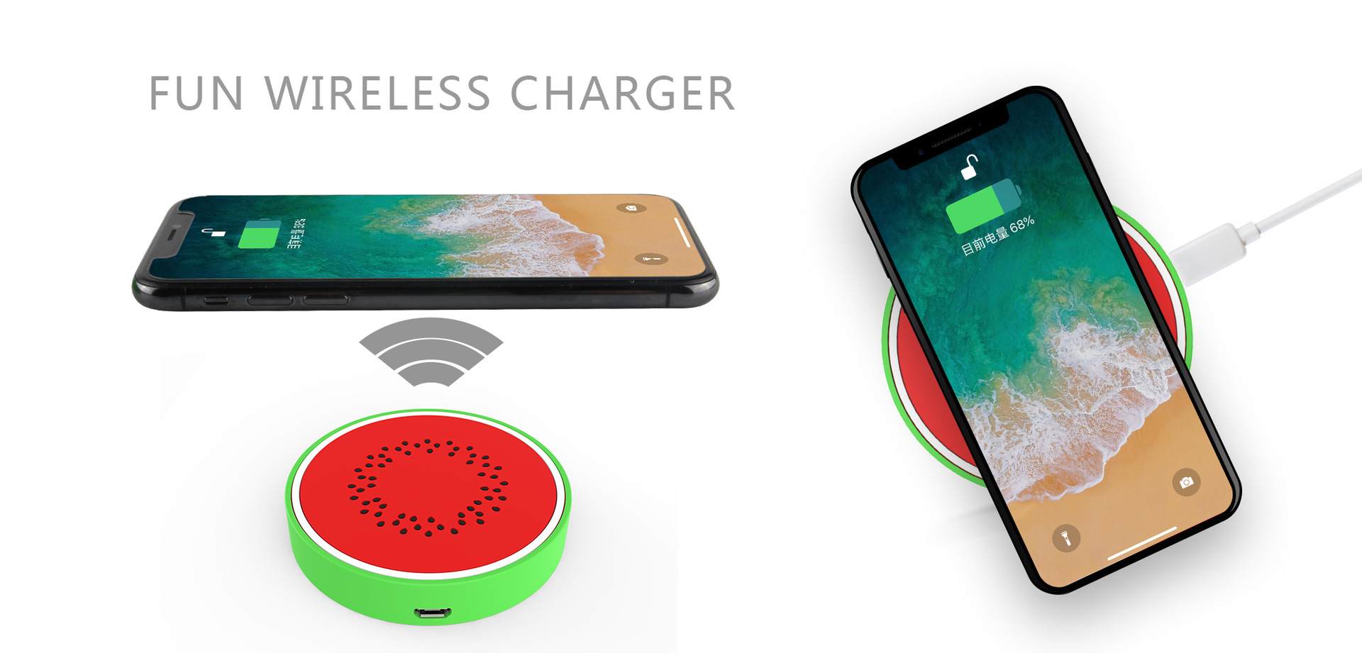 watermelon design cartoon wireless charger 1