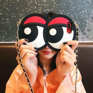 big eyes design silicone phone case