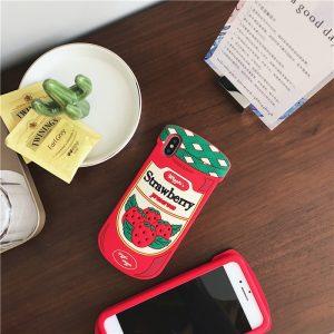 straberry design silicone phone case