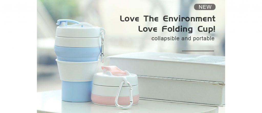 silicone cup folding coffee mug