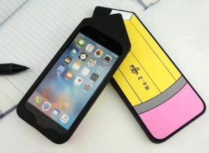 pen design silicone phone case