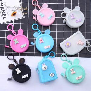 custom silicone mini candy bag or purse