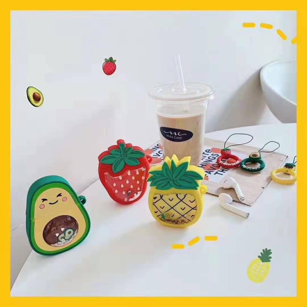 Fruit airpod silicone case