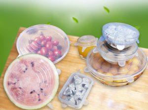kitchen reusable silicone stretch lids set