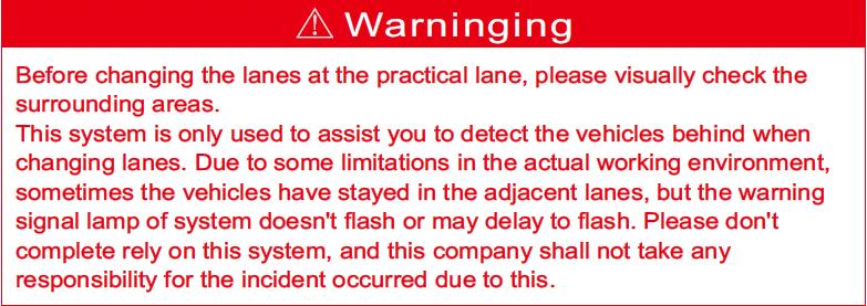 77H H1 BSM WARNING
