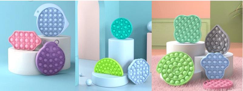 Silicone pop fidget toys it