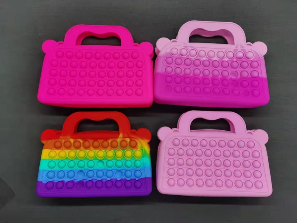 silicone purse with bobbles toys