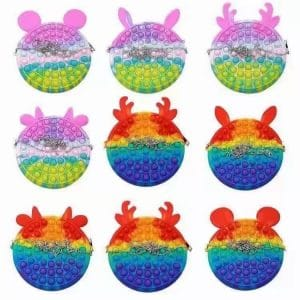 silicone purse with bobbles toys 2